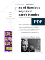 Importance of Hamlet's Soliloquies in Shakespeare's Hamlet – SchoolWorkHelper