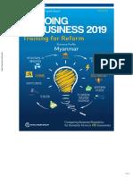 Doing Business in Myanmar 2019