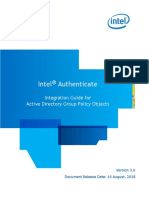 Intel(R) Authenticate GPO