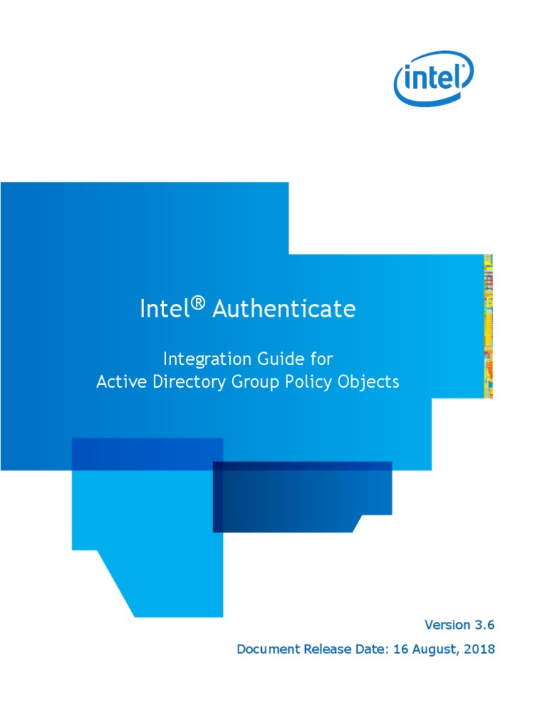 Intel(R) Authenticate GPO | Authentication | Login