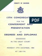 13th Graduation-17th Dec 1984