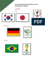 Mundiales en los que ha participado Ecuador