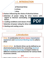 Electrical Drives and Control - Unit-I  ( MECHANICAL ENGINEERING )