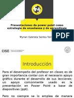 Presentaciones de Power PointComo Estrategia de Enseñanza y de Aprendizaje