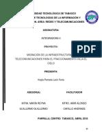 Migración de Infraestructura de Telecomunicaciones Para El Fraccionamiento Villa El Cielo