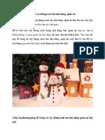 Cách Trang Trí Cây Thông Noel Cho Nhà Hàng