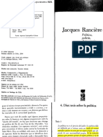 Jacques Rancière - 10 tesis sobre la política