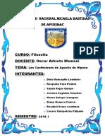 Resumen de Las Confeciones de San Agustin de Hipona