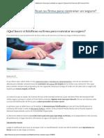 ¿Qué Hacer Si Falsifican Su Firma Para Contratar Un Seguro_ _ Economía _ Personal _ El Comercio Perú