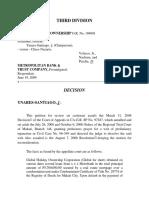 Global Holiday v. Metropolitan Bank, G.R. No. 184081, June 19, 2009