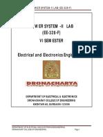 Power System-II EE-328-F
