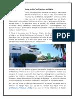 Meilleure école d'architecture au Maroc