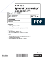 ML 3 15 Principles of Leadership and Management Practice Test