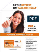 WNS-NU Business Analytics MBA Brochure
