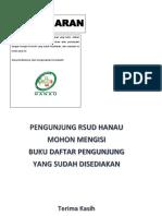 Label Kotak Saran, Lemari Barang