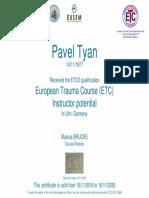 Certificate ETC