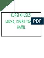 KURSI KHUSUS