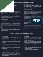 Tournament Rules - ML