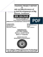 A Study on Effectiveness of Training and Development at Big Bazaar, Lucknow