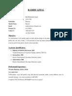 Rashid Ajmal (Supervisor) CV