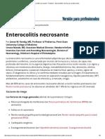 Enterocolitis Necrosante - Pediatría - Manual MSD Versión Para Profesionales