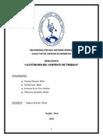 Monografía de Derecho Laboral