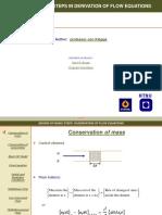 Derivation Flow Equations