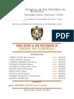 Iforme Latex Trabajo Grupal 2017 Mecanica de fluidos II
