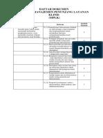 Daftar Dokumen Bab Viii