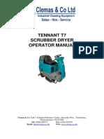 Tennant T7 Operator Manual