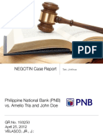 NEGO Case Report