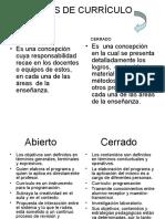 TIPOS DE CURRÍCULO