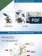 4- Microscopia e Metodo de Coloracao Bacteriana 01-2017 Corrigida