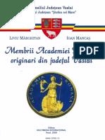 Marghitan Liviu Mancas Ioan Academicieni Ai Judetului Vaslui 2006