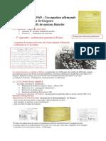 La Guerre de 39-45 L'Occupation Allemande à St Grégoire