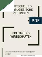 Deutsche Und Portugiesische Zeitungen