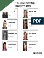 Candidats pares-mares al Consell Escolar 2018 de l'Elisa Badia