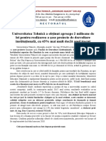 Șase Proiecte de Dezvoltare pentru TUIASI