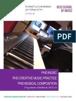 Music MPhil-PhD Programme Handbook 2018-19
