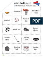 Memory Game Sports 2