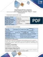 Guía de Actividades y Rúbrica de Evaluación Paso 3 Trabajo Colaborativo 2