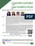 Valoración de Las Actividades de La Vida Diaria en Personas Con Deterioro Cognitivo, Estudio Psicométrico de La Escala VAVDI.