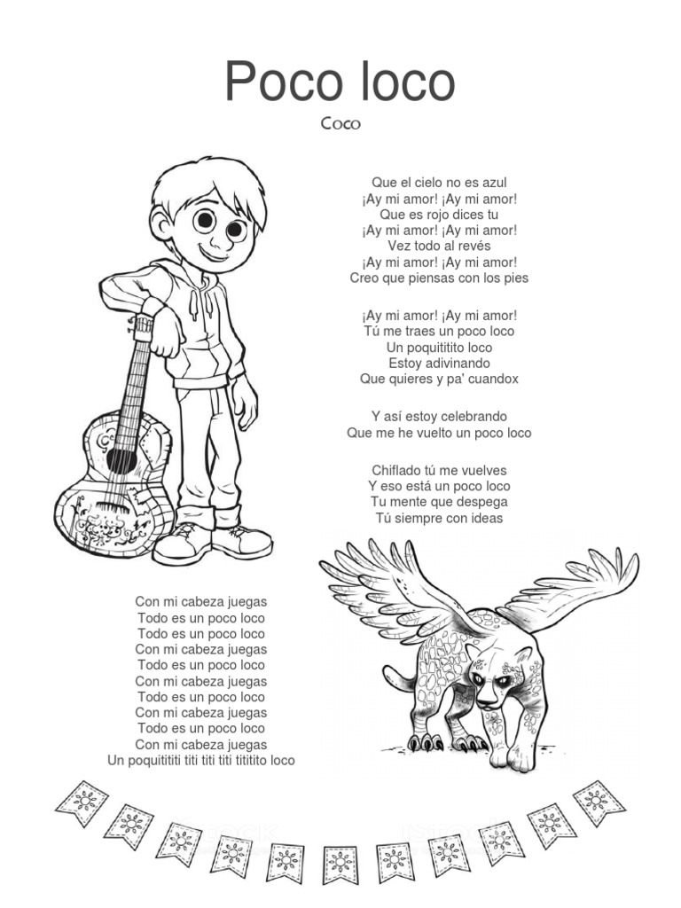 Coco Song Un Poco Loco Lyrics Spanish