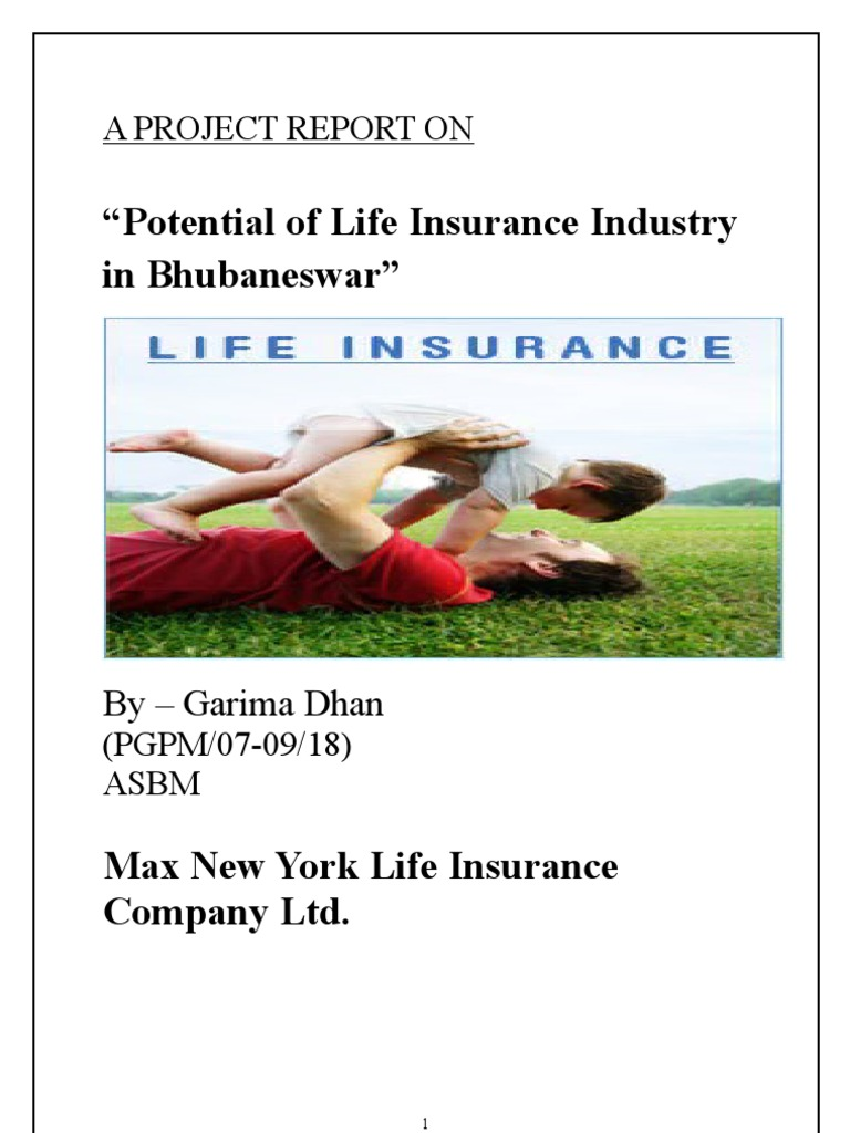 project report on max life insurance Max india is the holding company for max healthcare, max bupa health insurance and antara senior living it is part of the multi-business conglomerate, max.