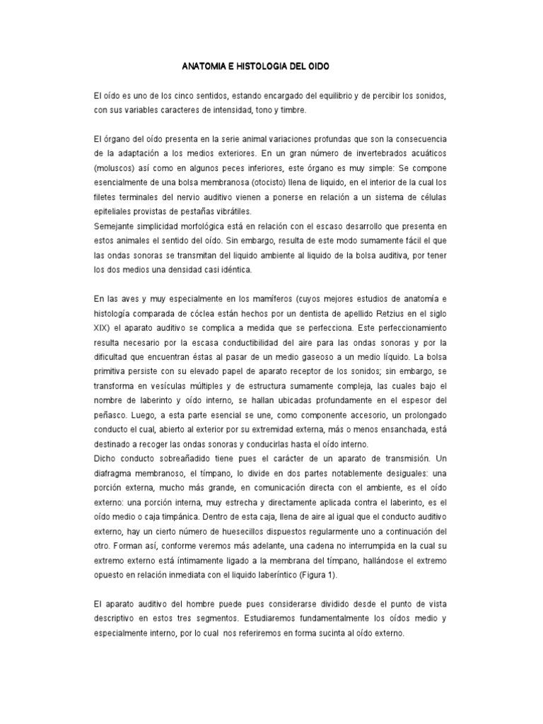 ANATOMIA E HISTOLOGÍA DEL OÍDO