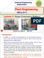 Lecture 4. Steam Generators (Boilers)