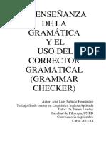Ensenanza de La Gramatica y Del Corrector de Gram