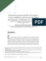Elementos Para La Gestión de Riesgos en Las Entidades Promotoras de Salud Del Régimen Contributivo en Colombia
