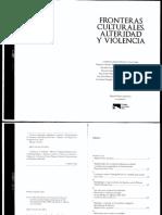 Fronteras culturales, alteridades y violencia- Miguel Olmos Aguilera.PDF