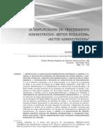 GAMERO - La Simplificación Del Procedimiento Administrativo